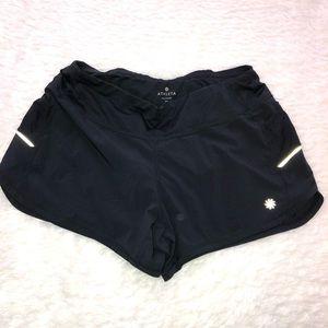 Black athleta running shorts